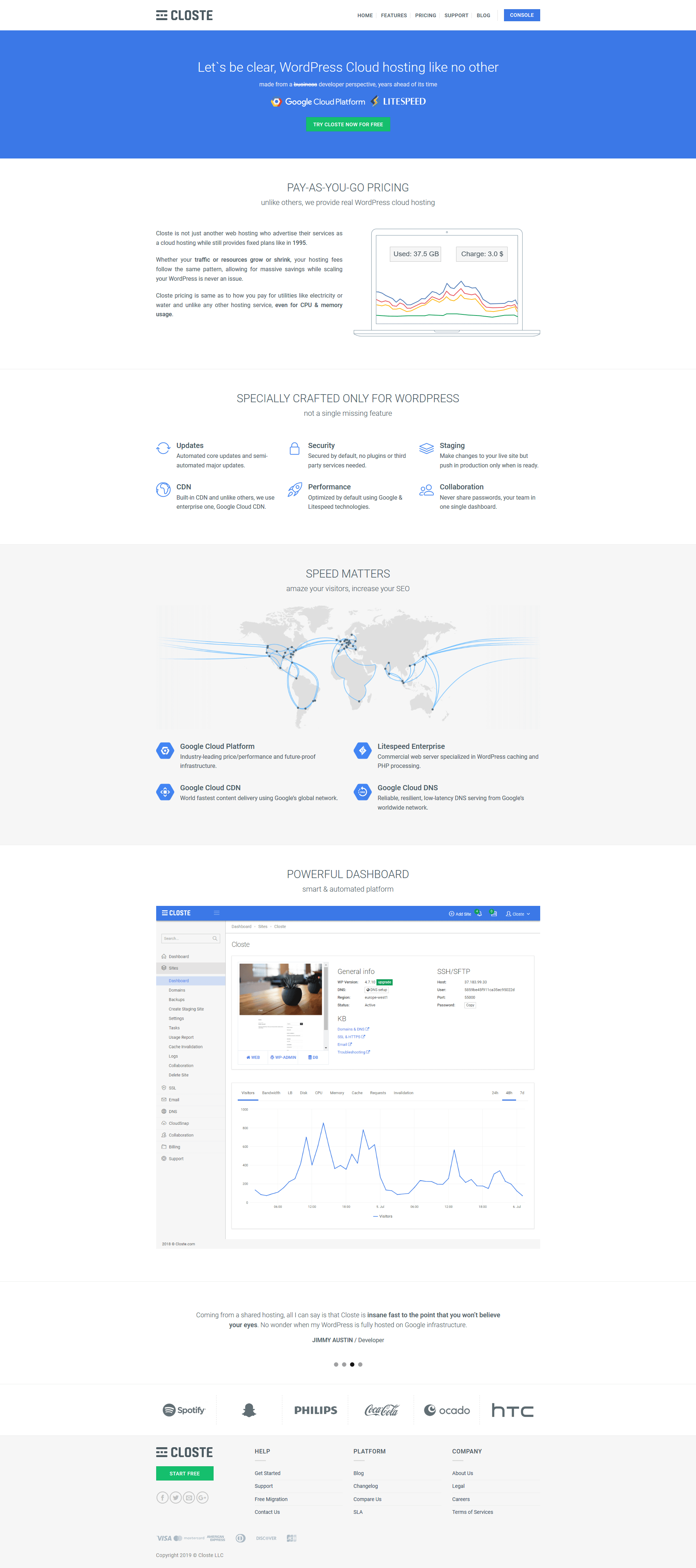 Screenshot_2019 03 04 WordPress hosting powered by Google Cloud Platform